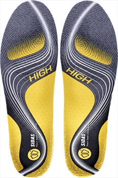 Sidas 3Feet Activ' High Running Insoles, XXL Yellow