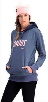 Mons Royale Decade Logo Hoody Merino Midlayer, M Stone