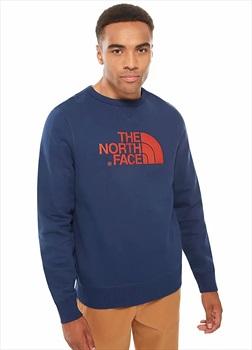 The North Face Drew Peak Crew Mens Jumper Storm Blue All Sizes