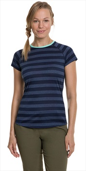 Berghaus Stripe Tee 2.0 Women's Short Sleeve T-Shirt, UK 8 Dusk/Indigo