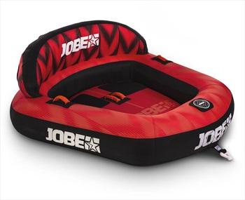 Jobe Proton Towable Inflatable Tube, 2 Rider Red Black 2020