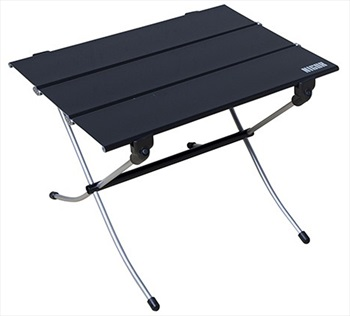 Nigor Table Hard Top Compact Camp Table, Small Black