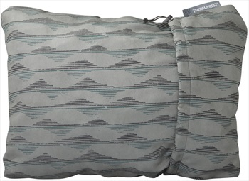 ThermaRest Compressible Travel Pillow Camping Pillow, L Grey Mountains
