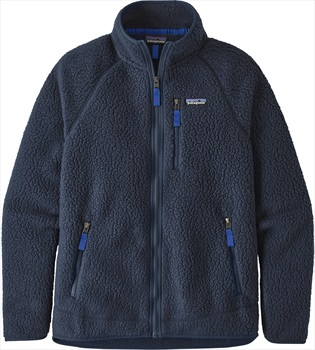 Patagonia Retro Pile Full Zip Fleece Jacket, M New Navy