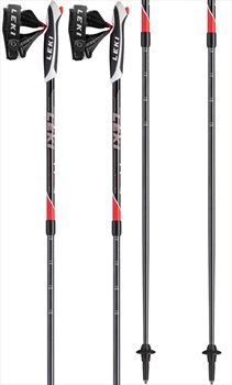 Leki Spin Speed Lock Adjustable Nordic Walking Poles, 100-130cm Black