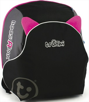 Trunki BoostApak Kid's Backpack/Booster Seat, 8L Black/Pink