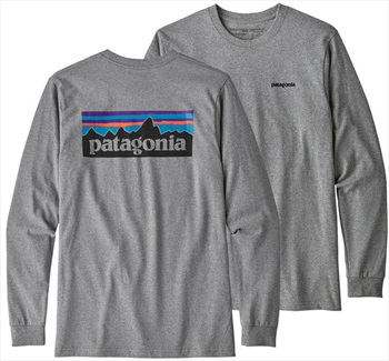 Patagonia P-6 Logo Responsibili-tee Long Sleeve T-Shirt, S Heather