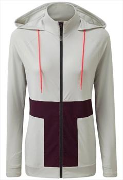 Tribe Sports Hoodie Women's Hooded Running Top, UK 10 Light Grey