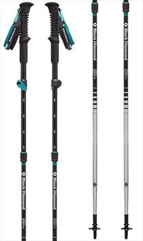 Black Diamond Women's Distance FLZ Trekking Poles 105-125cm, Evergreen