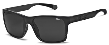 Zeal Brewer Sunglasses Matte Black Dark Grey