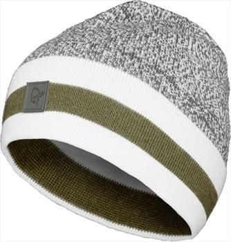 Norrona /29 Marl Knit Stripe Merino Wool Winter Beanie, Cool Black