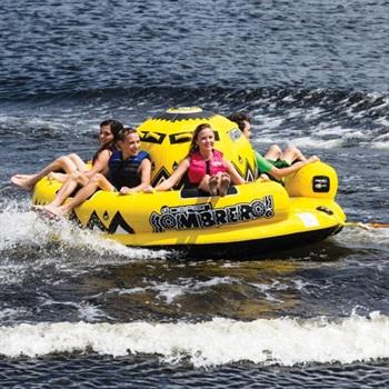 O'Brien Sombrero Towable Inflatable Tube, 5 Rider Yellow 2020
