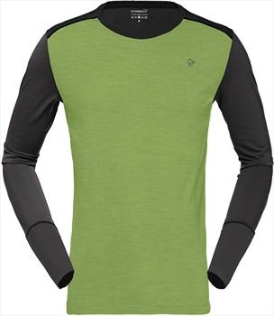 Norrona Merino Wool Round Neck L/S Base Layer M Bamboo Green/Charcoal