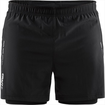 Craft Essential 2-in-1 Quick Dry Lightweight Running Shorts, M Black