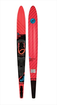 "O'Brien World Team Slalom Waterski With Bindings, 66"" Black Red 2019"