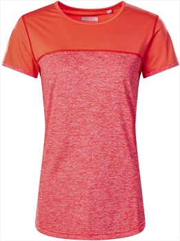 Berghaus Voyager Tech Women's Short Sleeve T-Shirt, UK 8 Red/Hot Coral