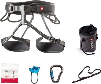 Ocun Twist Set Rock Climbing Harness Set, M-XL Black