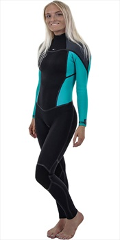 O'Neill Wetsuits Psycho One 5/4 Women's BZ Wetsuit, Size 6 Black Blue
