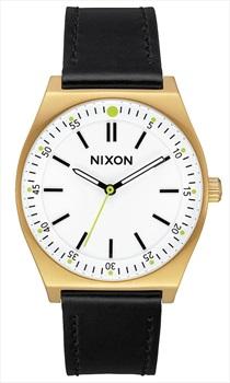 Nixon Crew Leather Women's Watch, Leather Gold/Cream/Black