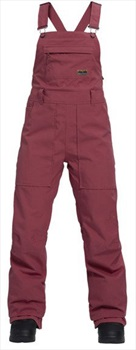 Burton Avalon Women's Snowboard/Ski Bib Pants, M Rose Brown