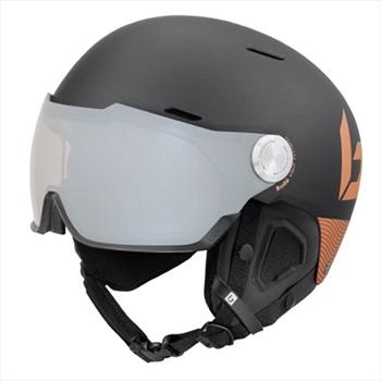 Bolle Might Visor Premium Ski/Snowboard Helmet, M, Matte Black & Gold
