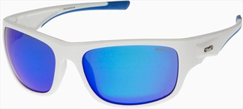 Sinner Bruno Sports Icy Blue Oil Wrap Around Sunglasses, White