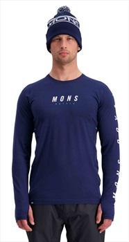 Mons Royale Olympus 3.0 Long Sleeve Merino Wool Top S Navy