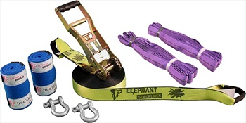 Elephant Slacklines Freak Flash'line Slackline Full Set, 15m Neon