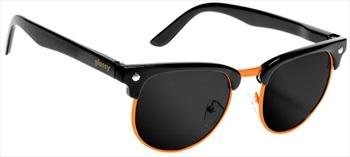 Glassy Sunhaters Morrison Sunglasses Black/Orange Grey Lens