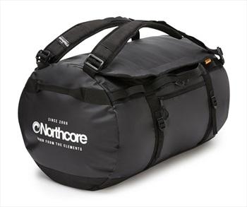 Northcore Adventurer 85L Duffel Travel Bag, 85L Black/White