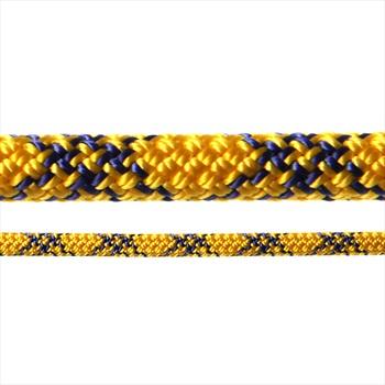 Tendon Ambition Rock Climbing Rope, 50m X 8.5mm, Yellow/Blue