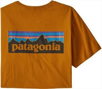 Patagonia P-6 Logo Organic Slim Fit T-Shirt, XL Hammond Gold