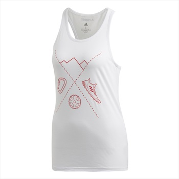 Adidas Terrex Ascend Women's Technical Tank Top Vest, UK 12 White