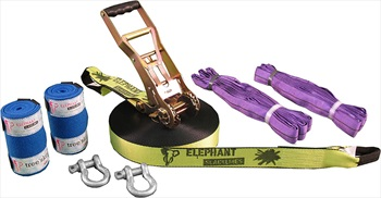 Elephant Slacklines Freak Flash'line Slackline Full Set, 25m Neon