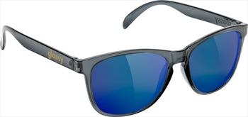 Glassy Sunhaters Deric Sunglasses Clear Grey Blue Mirror Lens