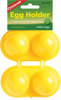 Coghlan's 2 Egg Holder Camping & Outdoor Egg Carrier, Yellow