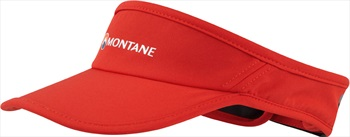 Montane Via Quick Dry Trail Running Sun Visor, Flag Red