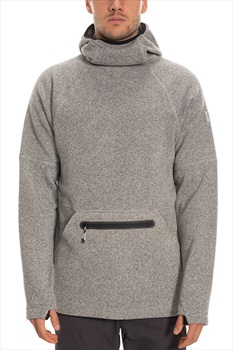 686 Knit Tech Fleece Hoody, S Light Grey Heather