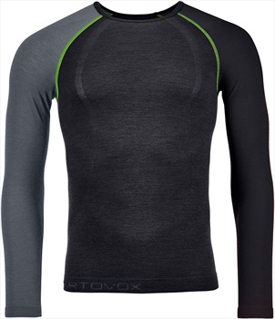 Ortovox 120 Comp Light Long Sleeve Thermal Top, XL Black Raven