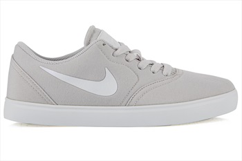 Nike SB Check Canvas Women's/Kid's Skate Shoes, UK 3 Vast Grey/White