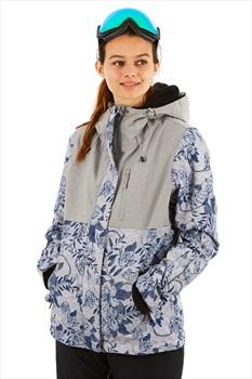 Roxy Jetty 3N1 Women's Snowboard/Ski Jacket, M Grey/Botanical Flowers