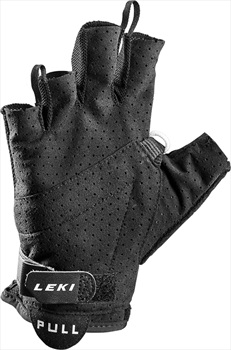 Leki Nordic Lite Shark Short Nordic/Trekking Pole Gloves, Small Black