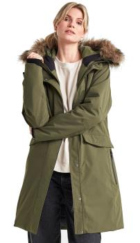 Didriksons Erika Women's Waterproof Parka Jacket, 40 Fog Green