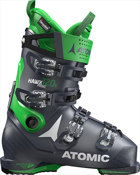 Atomic Hawx Prime 120S Ski Boots, 28/28.5 Dark Blue/Green 2020