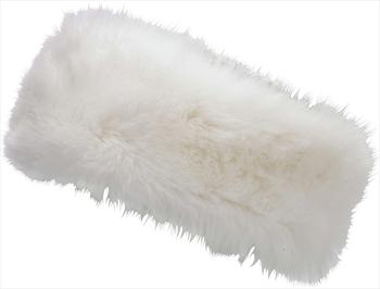 Manbi Women's Alicia Faux Fur Microfleece Headband, OS Arctic White