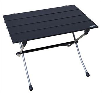 Nigor Table Hard Top Compact Camp Table, Medium Black