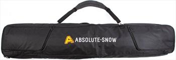 Absolute Deluxe Wheelie Ski/Snowboard Bag, 170cm All Black