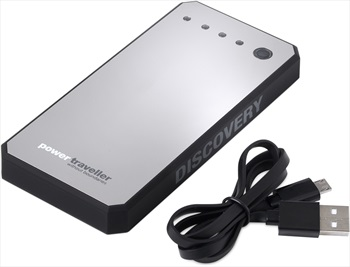 PowerTraveller Discovery Lightweight Portable Power Pack, Silver