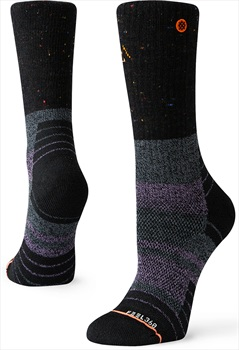 Stance Amethyst Hike Crew Walking/Hiking Socks, M Black