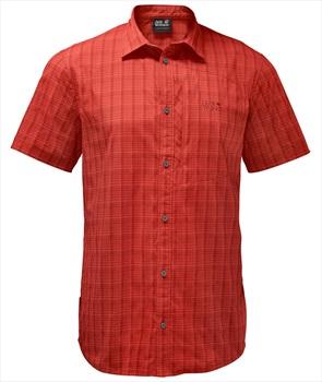 Jack Wolfskin Adult Unisex Rays Stretch Vent Shirt Tech Top, S Volcano